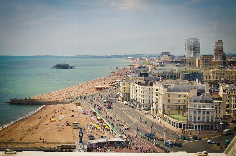 an image of the seashore of Brighton